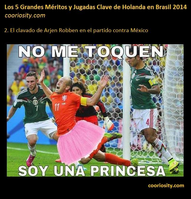 meritos holanda brasil 2014 - 2 Robben clavado