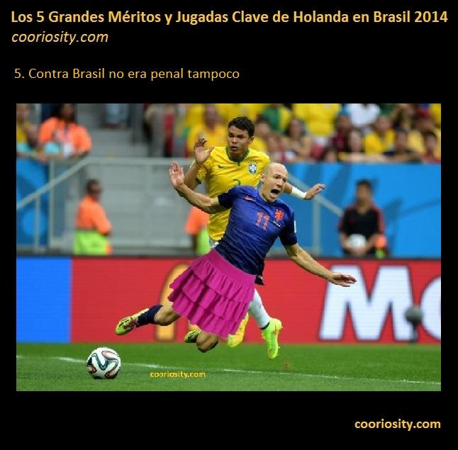 meritos holanda brasil 2014 - 5 Robben no era penal