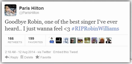 paris hilton robin williams